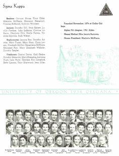 1935-36 Sigma Kappa.  From the 1936 Oregana (University of Oregon yearbook).  www.CampusAttic.com