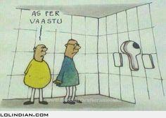 Toilet designed as per vaastu