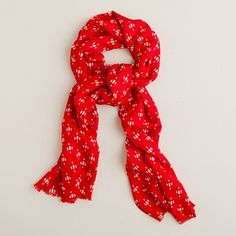 cheery scarf in a lightweight fabric.