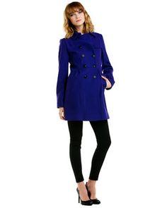 Winter Coat Picks: DKNY cobalt blue jacket