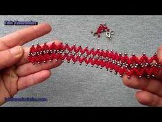 Takı Tasarımı-En Pratik Kristal Ve Kum Boncuklu Bileklik-(DETAYLI VE SESLİ ANLATIM) - YouTube