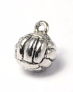 Volleyball Pewter Charm -1