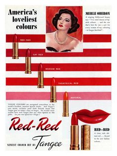 "LOLOL....this was my very first lipstick....in ""Natural"", of course...  Red-Red by Tangee 1940's"