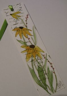 Sunflower Watercolor Bookmark by Wildflowerhouse on Etsy, $4.00