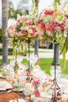 Wedding+Wednesday+::+Elevated+Centerpieces