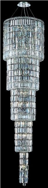 C121-2030G80C/RC By Elegant Lighting Maxim Collection 22 Light Chandeliers Chrome Finish