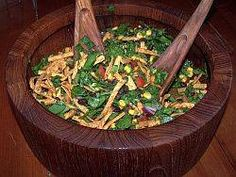Really good.  I skipped the tortilla strips. The dressing was GREAT.    Mexican Salad Recipe