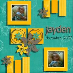 Baby boy scrapbooking layout using my own kit ref 0016. EMAIL me on js@storminc.co.za for more information.