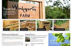 Ecommerce Website Design for wooden sign makers Bespoak Designs | www.bespoakdesigns.co.uk