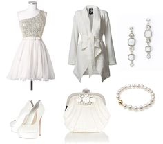 """""""New Year's Eve Glam (in white)"""" by frogchickk on Polyvore"""