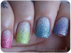 Gnarly Gnails: The Digit-al Dozen Does Skittles - Day 5 - Sugared Gumdrops