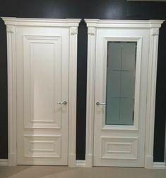 Interior Door Styles, Door Design Interior, Interior Decorating, Door Frame Molding, Modern Wooden Doors, Classic Doors, Door Casing, White Doors, Entrance Doors