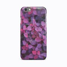 Violet Geometric Flower Hard Case for Apple iPhone 4 4S 5 5S 5c SE 6 6s 7 plus #Apple