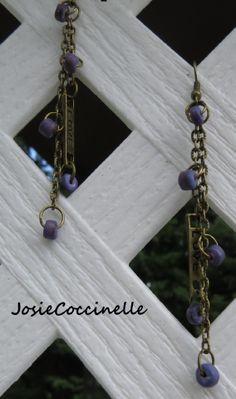 Boucles d'oreille bronzes Love & Violet : Boucles d'oreille par josiecoccinelle