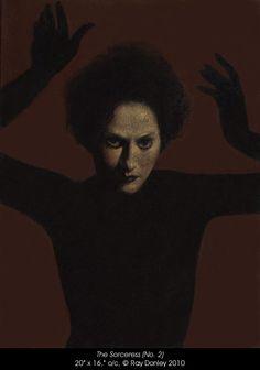 Ray Donley - The Sorceress (No. x o/c, 2010 Creepy Art, Gravure, Drawing Techniques, Dark Art, Les Oeuvres, Art Inspo, Art History, Art Reference, Illustrators