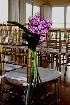 Ceremony Décor, purple stock and ti le