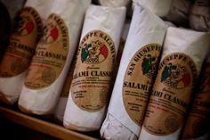 The most famous of Giacomo's traditional handmade sausages is this soppressata, the Classico. It offers to the discerning palate a robust flavor that could rival any in Sicily. Salami Appetizer, Appetizers, Buy One Get One, Deli, The Cure, Dinner Recipes, Good Food, Homemade, Main Dishes