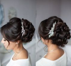 Tonya Pushkareva Long Wedding Hairstyle for Bridal via tonyastylist / http://www.himisspuff.com/long-wedding-hairstyle-ideas-from-tonya-pushkareva/24/