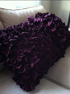 Purple Throw Pillow..to Go On The Couch In The Media Room..will Match The  New Curtains.