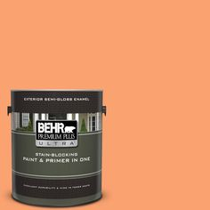 BEHR Premium Plus Ultra 1 gal. Olympic Bronze Semi-Gloss Enamel Exterior Paint and Primer in - The Home Depot Flat Interior, Interior Paint, Interior And Exterior, Behr Exterior Paint, Behr Marquee, Prairie House, Paint Types, Greek Isles