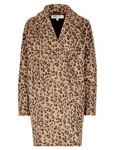 Animal Print Cocoon Coat | M&S