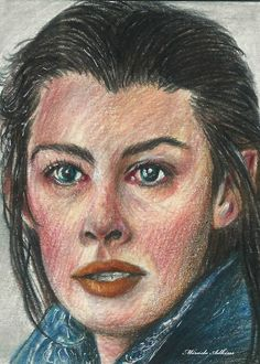 ACEO *ORIGINAL LORD OF THE RINGS ~ ARWEN ~ Portrait Drawing Cards by Miracle #Realism