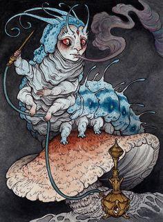 Absolem the blue caterpillar by CaitlinHackett.deviantart.com on @DeviantArt