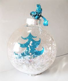 Supplies: Cricut, Holiday Cheer Cartridge (Provo Craft) Xyron Clear Glass Balls (Hobby Lobby) Transparency (Art Glitter) Aqua Marine Ultr...
