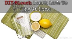 DIY Bleach That's Safe To Try At Home By Theresa Crouse- SurvivoPedia  There are several reasons why you may want to make your own bleach at home instead of using store-bought stuff. First, gallons of bleach take up a ton of space when...