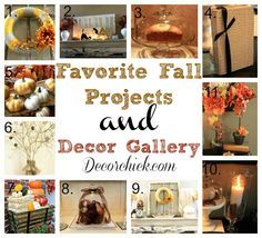 Lots of Fall projects and Fall inspiration in one post from Decorchick.com