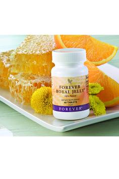 Forever Royal Jelly. grazie al contenuto delle vitamine A, B, C, D, di 18 aminoacidi e di numerosi minerali, queste tavolette migliorano il metabolismo, aumentando l'energia e riducendo la fatica. E' energia pura!  Contenuto 60 tavolette. (art. 36)
