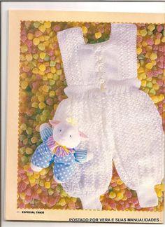 Olá amigas(os)!   Hoje vou postar mais umas roupinhas para bebes.   Espero que gostem!!                  Macacão  AZUL       Macacão  BRA...