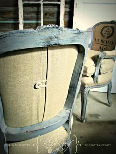 I just finished up a pair of these French chairs andwanted to share. My client, Karen, is a talentedInterior Designer and had some fu...