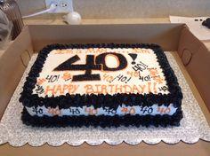 OSU 40th birthday cake