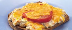 Give a lunchtime favorite added color, flavor, and crunch with shredded carrots, sliced tomatoes, and two kinds of cheese. Tuna Dishes, Great Recipes, Favorite Recipes, Yummy Recipes, Kinds Of Cheese, Tuna Melts, Tasty, Yummy Food, Sandwich Recipes