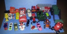 Lot Of 21 Toy Die Cast Cars Trucks ATV Fire Engine #Various