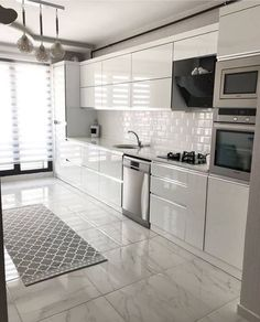 The Best 26 All White Kitchen Design Ideas modern all white kitchen with metro tiles Kitchen Pantry Design, Modern Kitchen Cabinets, Modern Kitchen Design, Home Decor Kitchen, Interior Design Kitchen, Kitchen Ideas, Metro Tiles Kitchen, Kitchen Layout Plans, Buy Kitchen
