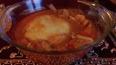"""Fufu and Chicken """"Light"""" pepper soup; the ideal brain food... The most delicious food in the world!"""