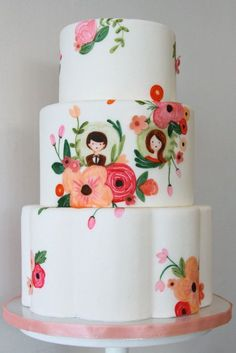 fondant floral cake.. lots of color