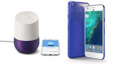 Google unveils two phones and a voice-activated speaker, both powered by its new virtual assistant.