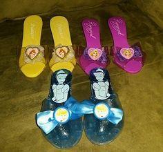 Disney girl dress up play shoes Bell Cinderella Repunzel