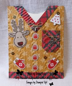 A while ago Sue Parker (Sparkled Stamps) from our weSTAMP team created and posted an awesome Buttoned Up Sweater Card  that she'd made and ...