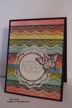 Black Lace Birthday by BK cards - Cards and Paper Crafts at Splitcoaststampers