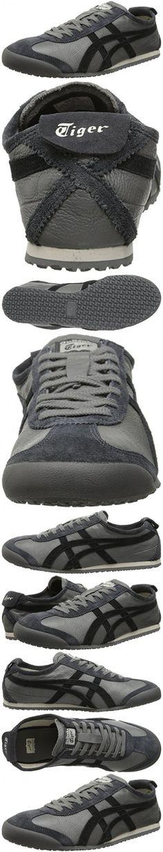Onitsuka Tiger Mexico 66 Vin Classic Running Shoe, Grey/Black, 8.5 M US
