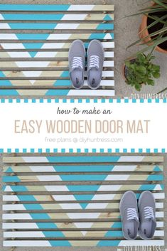 How to make an easy and trendy wooden door mat!
