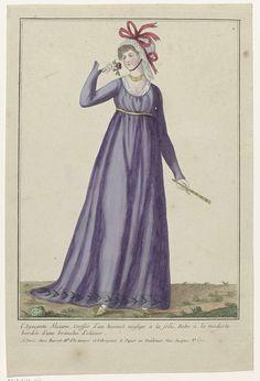 Collection consacrée aux modes d'hommes et de femmes, 1783-1813, No. 101 : L'Agaçante Alziane coeffée..., Anonymous, Basset, 1783 - 1813
