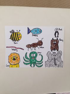 Drawing animals from the Animal Alphabet list