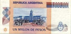 Banknotes - ND Issue - Argentina Pesos 1981 Old And New, Samurai, Vintage World Maps, Coins, Banknote, Theory, Paper, Central Bank, Brazil