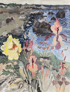 Floral Bluff and Distant Pelicans No.2. Michelle Morin