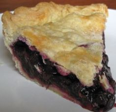 Huckleberry pie! Mouthwatering good! A Northwest treat. Now if I cold hop on over to Montana for some Huckleberries...